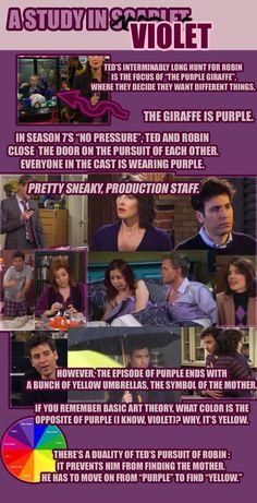 Wenn es um Robins und Teds Beziehung geht, spielt die Farbe Lila eine große Rolle. Sie zieht sich durch die ganze Serie.