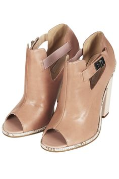 GLAD Block Heel Shoe Boots - Heeled Boots - Boots - Shoes - Topshop