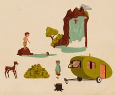 Woodland - Peridea Stickers by Giordano Poloni, via Behance People