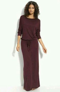 Maxi dress with drawstring waist