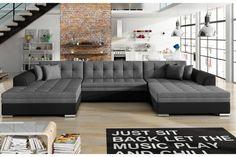 Couch U Form, U Couch, Sofa Bed, Canapes Faciles, Xxl Sofa, Modular Corner Sofa, Canapé Angle Convertible, Interior Decorating, Ontario