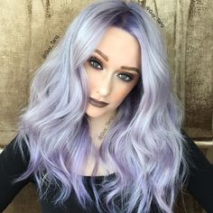 Georgeous silver violet hair color and style by @GuyTang hotonbeauty.com