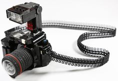 This LEGO DSLR Comes with a Flexible Strap and External Flash!