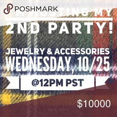 I'm Co-Hosting my 2nd Party! Join me at 12pm PST on Wednesday!  If you would like to be considered for a host Pick, please comment below or send ONE item to my dressing room. Please no more than one!  I hope to see you there! Posh Party Other