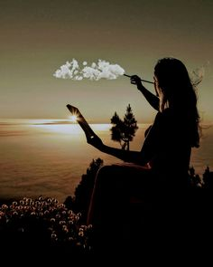 Beautiful Silhoutte Photography, Art Photography, Cute Pictures, Have Fun, Sunset, Painting, Outdoor, Image, Beautiful