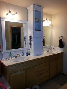Transformed basic bathroom mirror