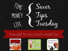 Tuesday money saving tips!
