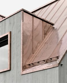 It would be a lie to say I only like this because of the timber- I mean look at that copper roof! Lovely and unexpected combination of materials. Community Centre for Evangelical Reformed Church in Würenlos by Menzi Bürgler Architekt Architecture Durable, Architecture Design, Concrete Architecture, Copper Roof, Metal Roof, Zinc Roof, Copper Ceiling, Copper Wall, Exterior Design