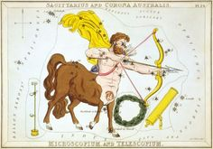 Sagittarius Vintage Zodiac Astrological Art Print - Astronomy Astrology Horoscope Art - Celestial Constellation Map - Old Maps and Prints - from Sagittarius Constellation, Constellation Map, Zodiac Signs Sagittarius, Zodiac Constellations, Zodiac Art, Sagittarius Personality, Gemini, Canvas Art, Canvas Prints
