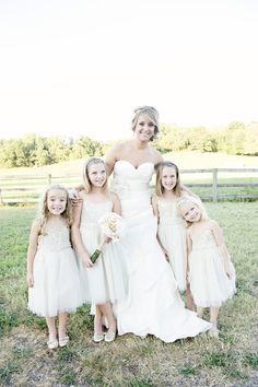 bride and flower girls  so cute.