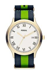 Fun summer watches. 9 different colors and combinations! Fossil Ansel Nylon Strap Watch, 41mm