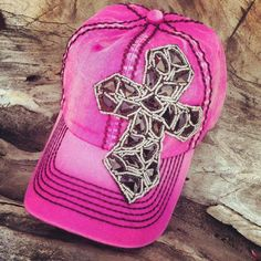 Pink Cross Cap