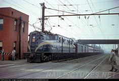 RailPictures.Net Photo: PRR 4800 Pennsylvania Railroad GG-1 at South Amboy, New Jersey, August 1955 by John Dziobko www.godfatherrails.com