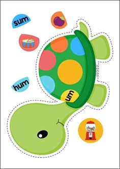 Pets Preschool and Kindergarten Centers. Tortoise word family sorting.
