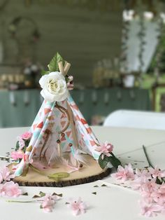 Teepee Table Centerpiece from a Vintage Boho Birthday Party on Kara's Party Ideas | KarasPartyIdeas.com (16)
