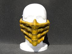 Mortal Kombat Scorpion v1. Airsoft Costume DJ Cosplay Mask -Made to order -