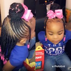 Black Children Hairstyles, Black Baby Girl Hairstyles, Black Kids Braids Hairstyles, Little Girls Natural Hairstyles, Toddler Braided Hairstyles, Toddler Braids, Natural Hairstyles For Kids, Braids For Kids, Kid Braid Styles