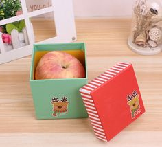 cardboard christmas gift boxes with lids - Christmas gift box Christmas Gift Boxes With Lids, Christmas Gifts, Paper Packaging, Box Packaging, Cosmetic Box, Box With Lid, Led Flashlight, Apple, Prints