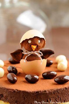 { Pour Pâques, je veux QUE du chocolat !!! } Gâteau très léger au chocolat noir Et 2 fèves précieuses ♥ Sans gluten ♥ Sans lait ♥ IG bas ♥ Que penseriez-vous d'un très beau gâteau, léger, sain et raisonnable mais «qui en jette» un max, un peu dans la lignée (pour ceux quiLire la suite...