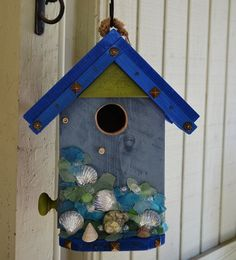 #beach #birdhouse www.naturaluniquebirdhouses.com Where birds are my passion.