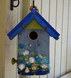 #beach #birdhouse www.naturaluniquebirdhouses.com Where birds are my passion.