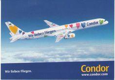 Condor Boeing 757-300 Postcard