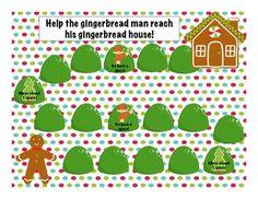 Free! Gingerbread game board fun reinforcer!