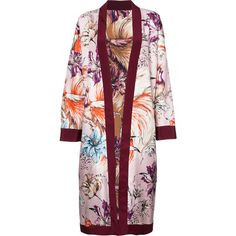 Fausto Puglisi floral kimono jacket (137.265 RUB) ❤ liked on Polyvore featuring outerwear, jackets, floral print jacket, multi-color leather jackets, pink kimono jacket, colorblock jackets and floral jacket