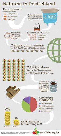 Infografik Ernährung in Deutschland: jede Menge Fleisch!