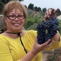 Face behind the grapes :)  Denise @ Altipiano Winery