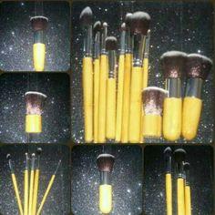 11 Pcs Makeup Set Kabuki 11 Pcs Makeup Set Kabuki  Bamboo Handle Brush face and eye brushes  Cruelty free  bamboo wood handles Accessories
