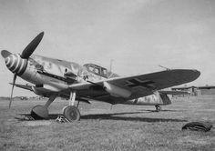 """Bf 109 G-6 W.Nr. 15 458 """"Schwarze 10"""", Lt. Joachim Göhre, 8./JG 1, Leeuwarden, Summer 1943. Source: messerschmitt-bf109.de.   by mhaldimann2"""
