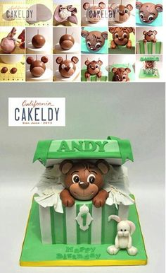 Teddy Bear in Gift Box Cake Picture Tutorial