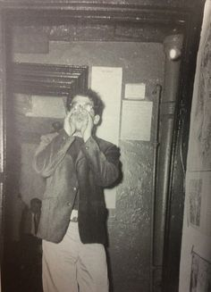 """Allen Ginsberg howling at a New Year's party."" From Beat Generation: Glory Days in Greenwich Village"