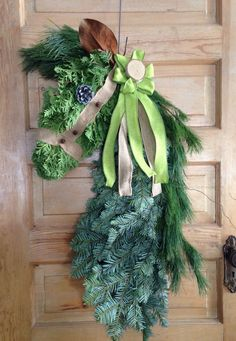Horse head wreath made with fresh greens