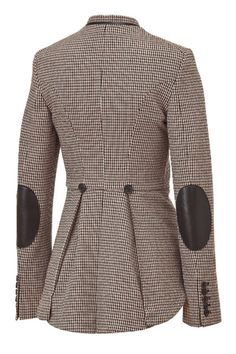 idea for back of equestrian style jacket...Houndstooth Riding Jacket