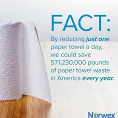 Wow that's a lot of paper towel! Does this fact shock you? Just think if we reduced our paper towel use, we would save so much money and save our plant! Learn some facts about smart, easy cleaning. click the link to find out more. Norwex Biz, Norwex Cleaning, Green Cleaning, Cleaning Hacks, Norwex Products, Cleaning Products, Facebook Party, For Facebook, Facebook Banner