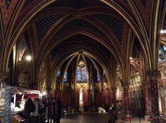 Sainte Chapelle, a maravilhosa renda de vitrais Chapelle Basse