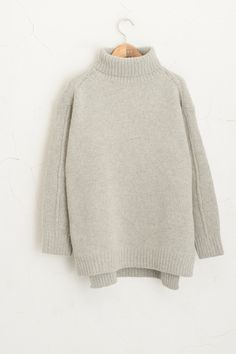 Olive - Roll Up Neckline Loose Fit Knit Jumper, Grey, £69.00 (http://www.oliveclothing.com/p-oliveunique-20150915-012-grey-roll-up-neckline-loose-fit-knit-jumper-grey)
