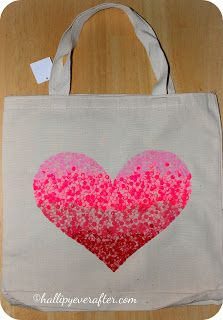 DIY Painted Canvas Bag @hallipyeverafter.com