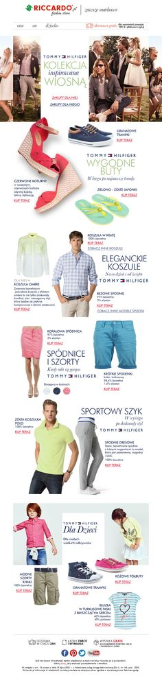 Email Marketing Campaigns - Tommy Hillfiger - for e-store Riccardo.pl