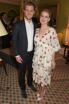 Newlyweds: Alice Eve and her husband Alex Cowper-Smith looked picture perfect as they atte...