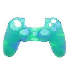 Silicone Skin Case for PS4 Controller (Green & Blue)