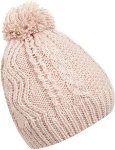 Pin for Later: Shopping: 60 Accessoires Indispensables Cet Automne Miss Selfridge Bonnet rose en maille torsadée (16€)