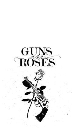 Rose Wallpaper, Wallpaper Iphone Cute, Guns N Roses, Band Wallpapers, Cute Wallpapers, Rock Band Posters, Cool Album Covers, Supreme Wallpaper, Silhouette Clip Art