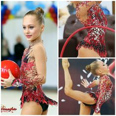 Leotard for rhythmic gymnastics by lana_leotards