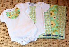 """I wish I knew a little set of twins... these DIY onesies are too cute!  Adding the coordinating burp cloths (something I'm actually confident sewing) and you've got an adorable """"Welcome Baby"""" gift!"""