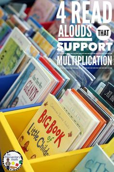 Do you like to use read-alouds to introduce new ideas and concepts? Check out this post about 4 books that are great for introducing multiplication concepts to students.
