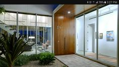 Entry door and glass wall