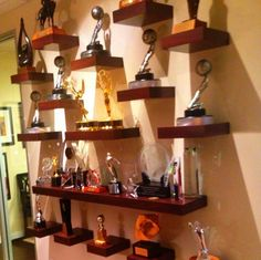 Trophy case display